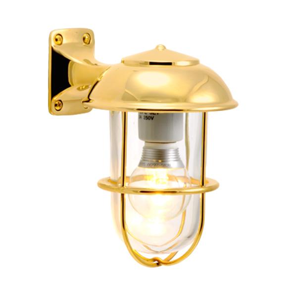 ゴーリキアイランド 真鍮 ブラケットランプ(クリアガラス&LEDランプ)BR5000 CL LE 金色【 アンティーク ブラス 雑貨】 [700236]