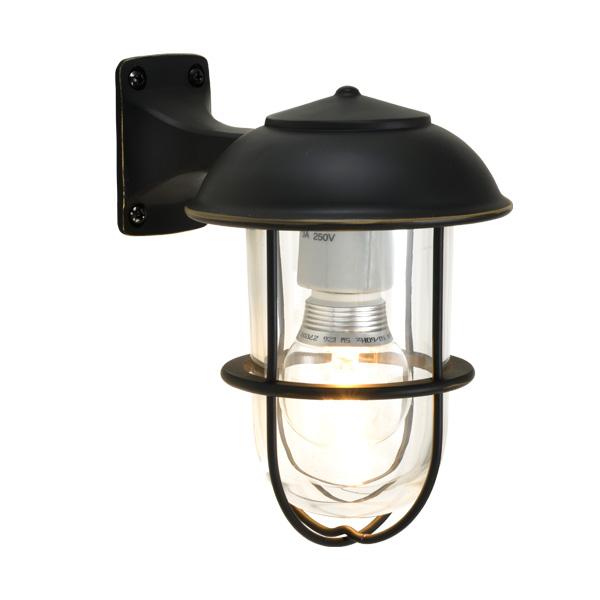 ゴーリキアイランド 真鍮 ブラケットランプ(クリアガラス&LEDランプ)BR5000 CL LE 黒色【 アンティーク ブラス 雑貨】 [700353]