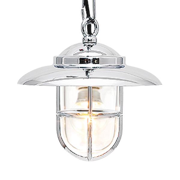 ゴーリキアイランド 真鍮 ペンダントライト(クリアガラス&LEDランプ)P2060 CL LE 銀色【 アンティーク ブラス 雑貨】 [700363]