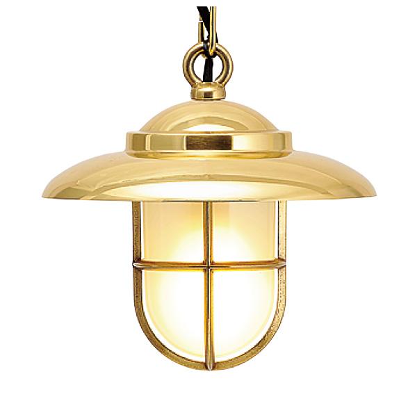 ゴーリキアイランド 真鍮 ペンダントライト(くもりガラス&LEDランプ)P2060 FR LE 金色【 アンティーク ブラス 雑貨】 [700374]