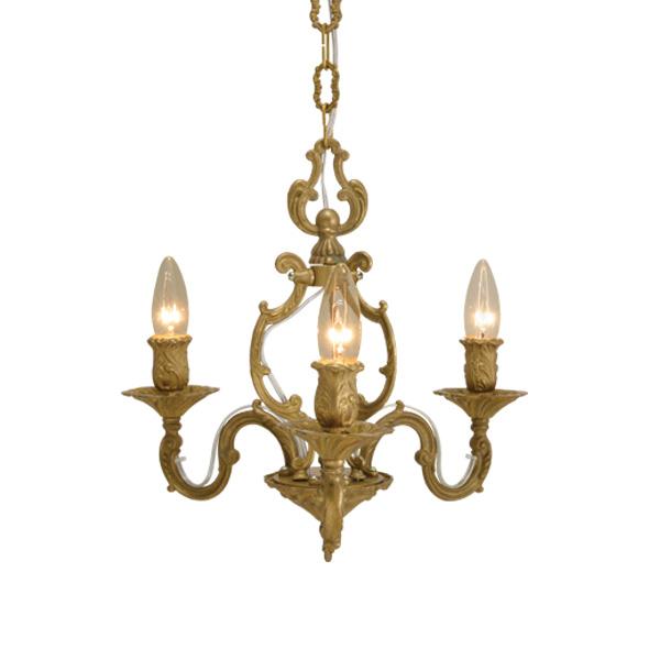 ゴーリキアイランド 真鍮 シャンデリア 金色 GATE3タイプ【 アンティーク ブラス 雑貨】 [700391]