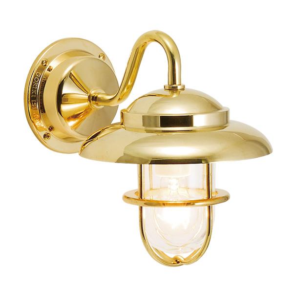 ゴーリキアイランド 真鍮 ブラケットランプ(クリアガラス&普通球)BR1760 CL 金色【 アンティーク ブラス 雑貨】 [700456]