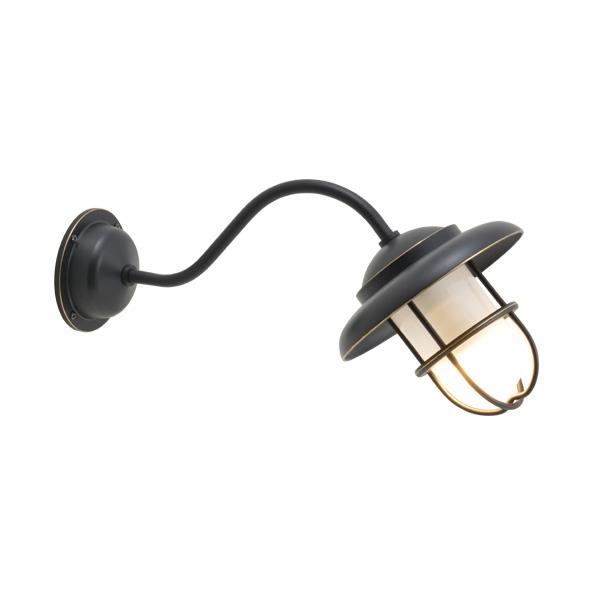 ゴーリキアイランド 真鍮 ブラケットランプ(くもりガラス&LEDランプ)BT1760 FR LE ティルトタイプ 黒色【 アンティーク ブラス 雑貨】 [700492]