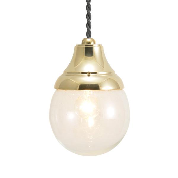 ゴーリキアイランド 真鍮 ペンダントライト(泡入りガラス&普通球)PW1784 BU 金色【 アンティーク ブラス 雑貨】 [700571]