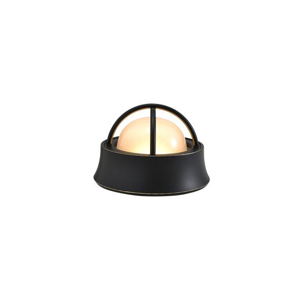 ゴーリキアイランド 真鍮 マリンランプ(くもりガラス&LEDランプ)BH1000MINI LOW FR LE 室内用 黒色 [700592]
