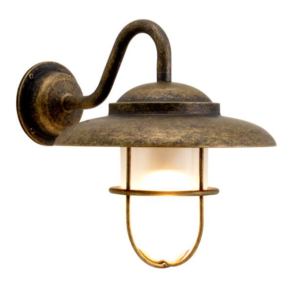 ゴーリキアイランド 真鍮 ブラケットランプ(くもりガラス&LEDランプ)BR5060 FR LE 古色【 アンティーク ブラス 雑貨】 [700683]