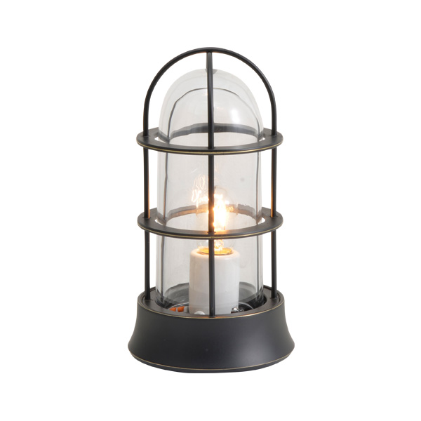 ゴーリキアイランド 真鍮 マリンランプ(クリアガラス&普通球)BH1000SLIM CL 黒色【 アンティーク ブラス 雑貨】 [750038]
