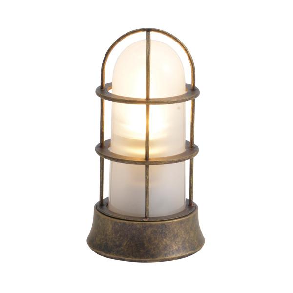 ゴーリキアイランド 真鍮 マリンランプ(くもりガラス&LEDランプ)BH1000SLIM FR LE 古色【 アンティーク ブラス 雑貨】 [750053]