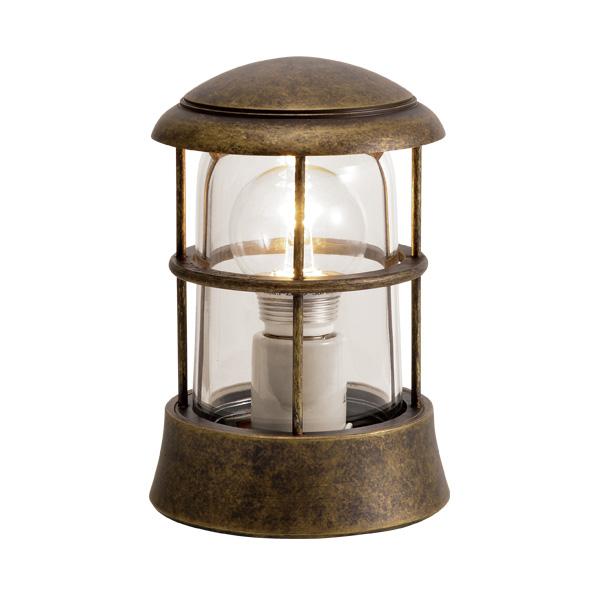 ゴーリキアイランド 真鍮 マリンランプ(クリアガラス&LEDランプ)BH1010 CL LE 古色【 アンティーク ブラス 雑貨】 [750079]