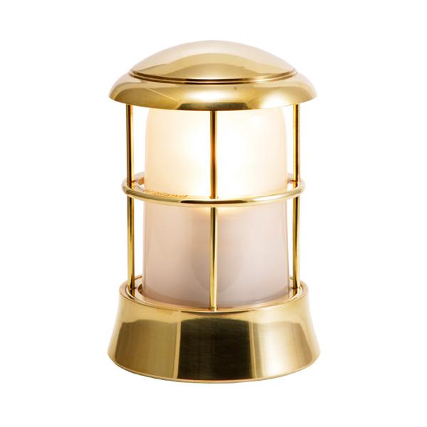 ゴーリキアイランド 真鍮 マリンランプ(くもりガラス&LEDランプ)BH1010 FR LE 金色【 アンティーク ブラス 雑貨】 [750086]