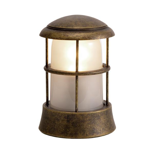 ゴーリキアイランド 真鍮 マリンランプ(くもりガラス&LEDランプ)BH1010 FR LE 古色【 アンティーク ブラス 雑貨】 [750088]