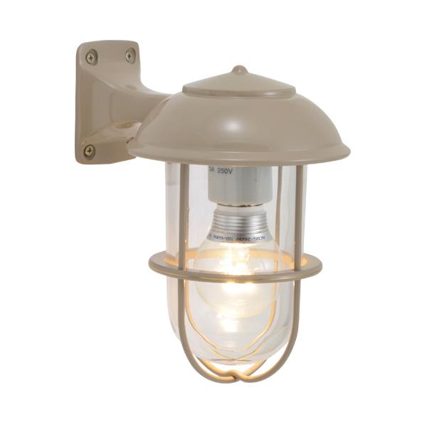 ゴーリキアイランド 真鍮 ブラケットランプ(クリアガラス&LEDランプ)BR5000 CL LE アースグレイ【 アンティーク ブラス 雑貨】 [750198]