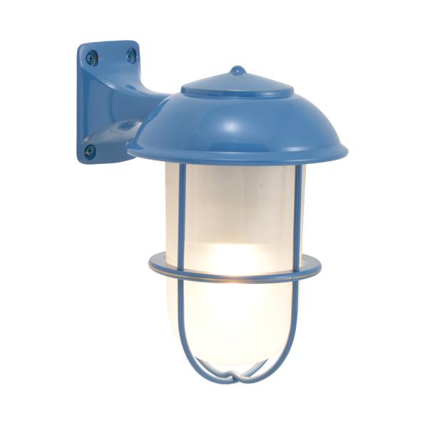ゴーリキアイランド 真鍮 ブラケットランプ(くもりガラス&LEDランプ)BR5000 FR LE パシフィックブルー【 アンティーク ブラス 雑貨】 [750202]