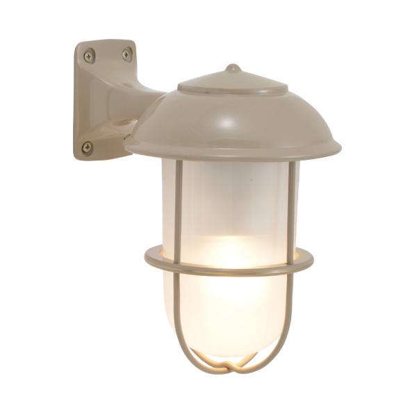 ゴーリキアイランド 真鍮 ブラケットランプ(くもりガラス&LEDランプ)BR5000 FR LE アースグレイ【 アンティーク ブラス 雑貨】 [750203]