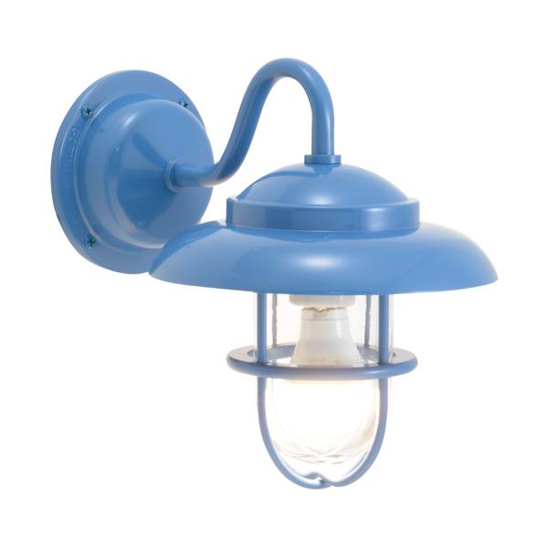ゴーリキアイランド 真鍮 ブラケットランプ(クリアガラス&LEDランプ)BR1760 CL LE パシフィックブルー【 アンティーク ブラス 雑貨】 [750243]