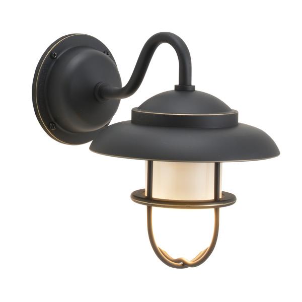 ゴーリキアイランド 真鍮 ブラケットランプ(くもりガラス&LEDランプ)BR1760 FR LE 黒色【 アンティーク ブラス 雑貨】 [750250]