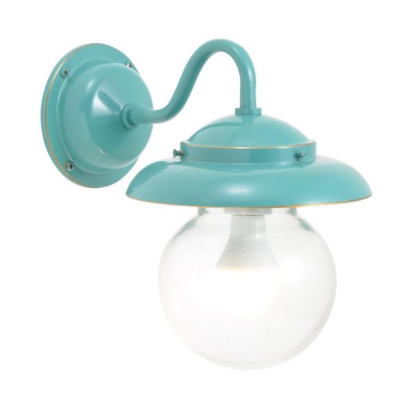 ゴーリキアイランド 真鍮 ブラケットランプ(泡入りガラス&LEDランプ)BR1771 BU LE 軒下用 防滴 メイグリーン [750270]