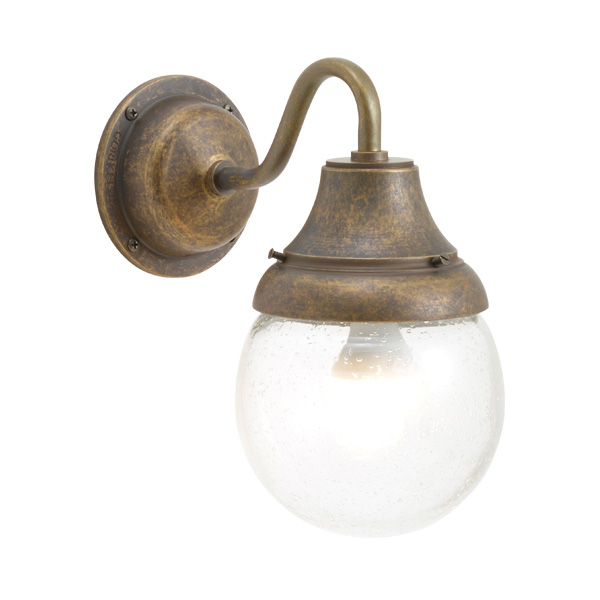 ゴーリキアイランド 真鍮 ブラケットランプ(泡入りガラス&LEDランプ)BR1784 BU LE 軒下用 防滴 古色【 アンティーク ブラス 雑貨】 [750281]