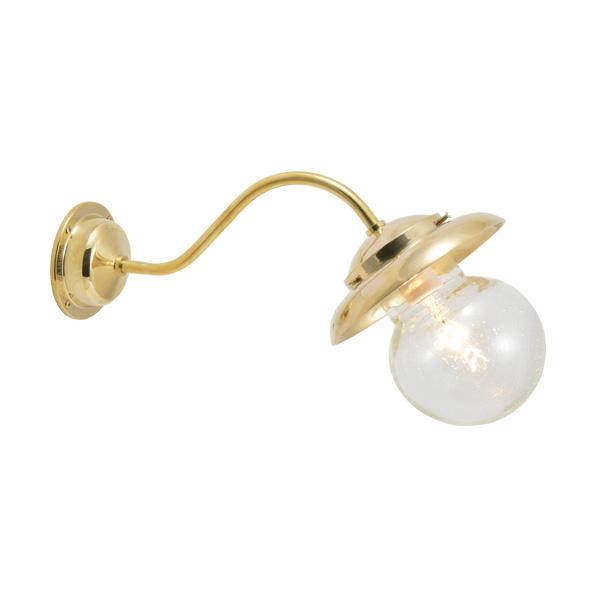ゴーリキアイランド 真鍮 ブラケットランプ(泡入りガラス&普通球)BT1771 BU ティルトタイプ 軒下用 防滴 金色 [750312]