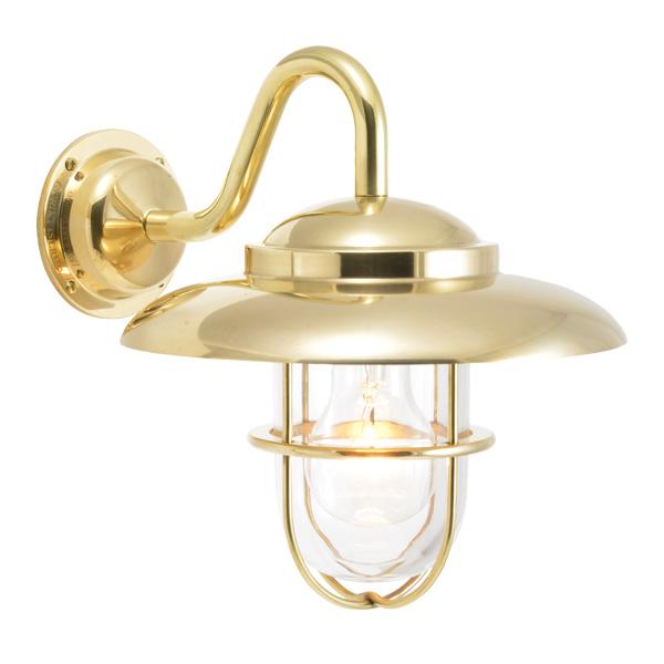 ゴーリキアイランド 真鍮 ブラケットランプ(クリアガラス&普通球)BR5060 CL 金色【 アンティーク ブラス 雑貨】 [750336]