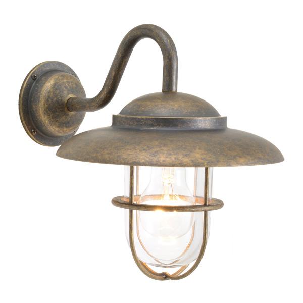 ゴーリキアイランド 真鍮 ブラケットランプ(クリアガラス&普通球)BR5060 CL 古色【 アンティーク ブラス 雑貨】 [750337]