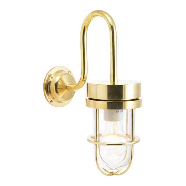ゴーリキアイランド 真鍮 ブラケットランプ(クリアガラス&普通球)BR6000 CL 金色【 アンティーク ブラス 雑貨】 [750354]