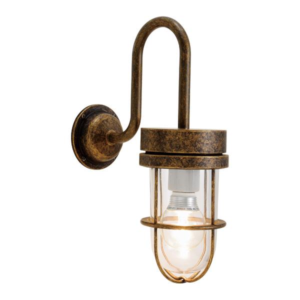 ゴーリキアイランド 真鍮 ブラケットランプ(クリアガラス&LEDランプ)BR6000 CL LE 古色【 アンティーク ブラス 雑貨】 [750365]