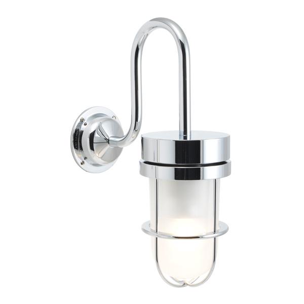 ゴーリキアイランド 真鍮 ブラケットランプ(くもりガラス&LEDランプ)BR6000 FR LE 銀色【 アンティーク ブラス 雑貨】 [750373]