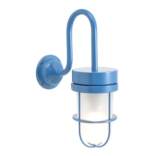 ゴーリキアイランド 真鍮 ブラケットランプ(くもりガラス&LEDランプ)BR6000 FR LE パシフィックブルー【 アンティーク ブラス 雑貨】 [750377]