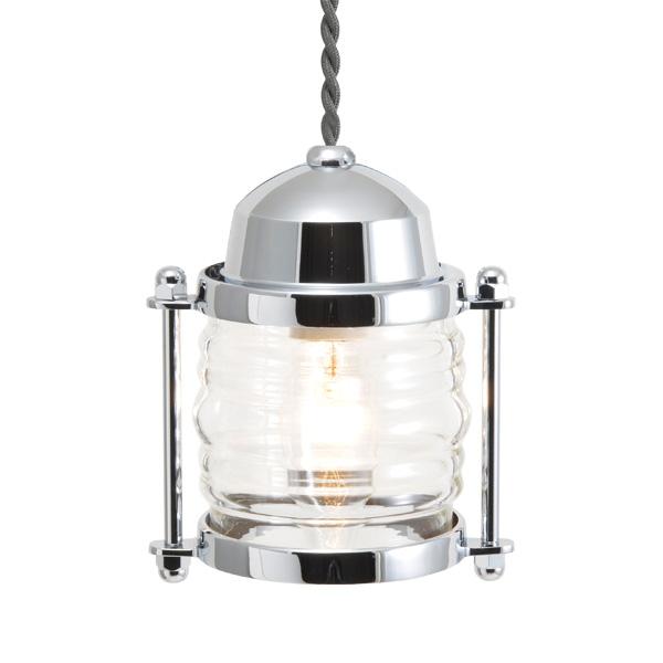 ゴーリキアイランド 真鍮 ペンダントライト(クリアガラス&普通球)BR1710 CL 銀色【 アンティーク ブラス 雑貨】 [750398]