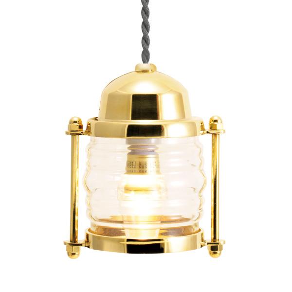 ゴーリキアイランド 真鍮 ペンダントライト(クリアガラス&LEDランプ)PW1710 CL LE 金色【 アンティーク ブラス 雑貨】 [750406]