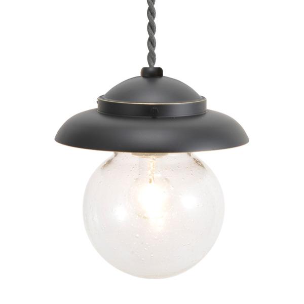 ゴーリキアイランド 真鍮 ペンダントライト(泡入りガラス&普通球)PW1771 BU 黒色【 アンティーク ブラス 雑貨】 [750432]
