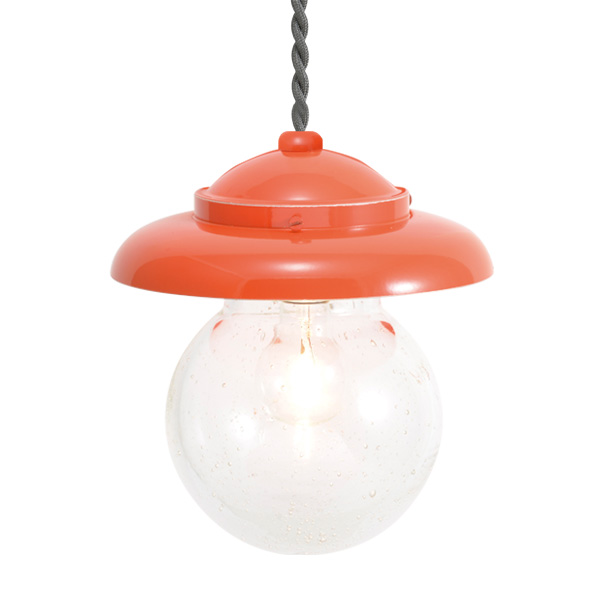 ゴーリキアイランド 真鍮 ペンダントライト(泡入りガラス&普通球)PW1771 BU オレンジ【 アンティーク ブラス 雑貨】 [750437]