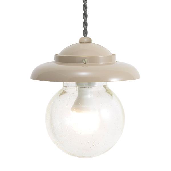 ゴーリキアイランド 真鍮 ペンダントライト(泡入りガラス&LEDランプ)PW1771 BU LE アースグレイ【 アンティーク ブラス 雑貨】 [750444]