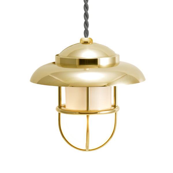 ゴーリキアイランド 真鍮 ペンダントライト(くもりガラス&LEDランプ)PW1760 FR LE 金色【 アンティーク ブラス 雑貨】 [750481]
