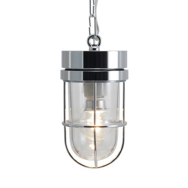 ゴーリキアイランド 真鍮 ペンダントライト(クリアガラス&LEDランプ)P6000 CL LE 銀色【 アンティーク ブラス 雑貨】 [750494]