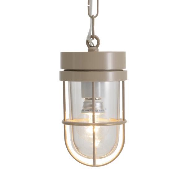 ゴーリキアイランド 真鍮 ペンダントライト(クリアガラス&LEDランプ)P6000 CL LE アースグレイ【 アンティーク ブラス 雑貨】 [750496]