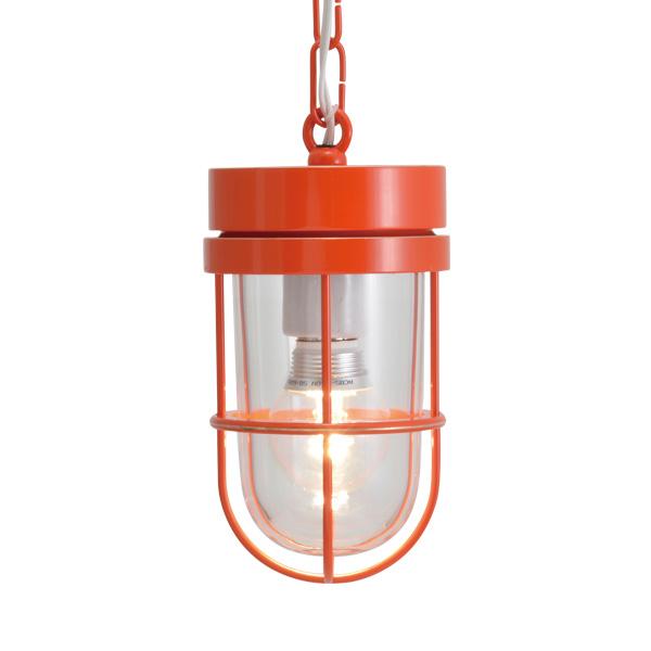 ゴーリキアイランド 真鍮 ペンダントライト(クリアガラス&LEDランプ)P6000 CL LE オレンジ【 アンティーク ブラス 雑貨】 [750497]
