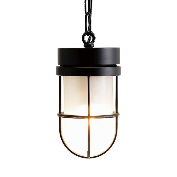 ゴーリキアイランド 真鍮 ペンダントライト(くもりガラス&LEDランプ)P6000 FR LE 黒色【 アンティーク ブラス 雑貨】 [750501]