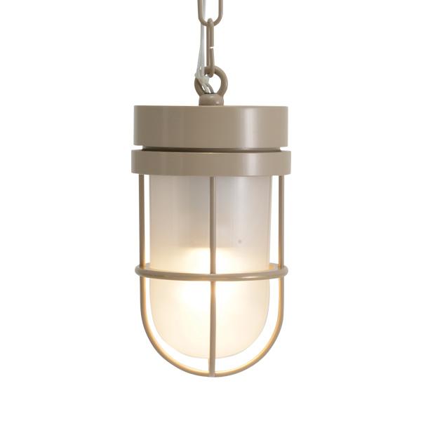 ゴーリキアイランド 真鍮 ペンダントライト(くもりガラス&LEDランプ)P6000 FR LE アースグレイ【 アンティーク ブラス 雑貨】 [750504]