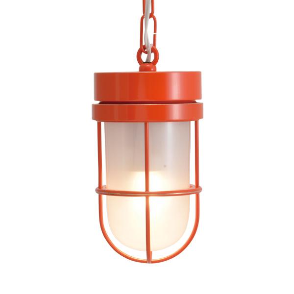 ゴーリキアイランド 真鍮 ペンダントライト(くもりガラス&LEDランプ)P6000 FR LE オレンジ【 アンティーク ブラス 雑貨】 [750506]
