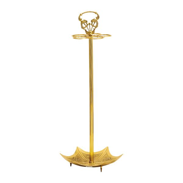 ゴーリキアイランド 真鍮 傘立て 金色 傘型【 アンティーク ブラス 雑貨】 [770012]
