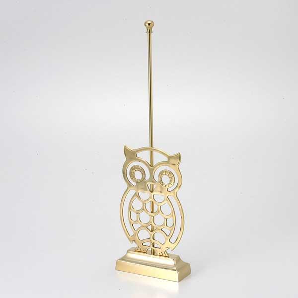 ゴーリキアイランド 真鍮 ドアストッパー 金色 フクロウタイプ【 アンティーク ブラス 雑貨】 [770054]