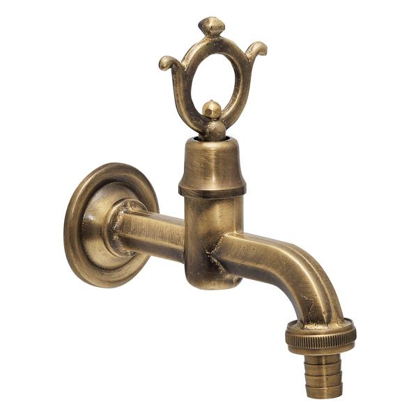 ゴーリキアイランド 真鍮 製水栓 外用 アンティークブラス ヘキサゴン【 アンティーク ブラス 雑貨】 [870605]