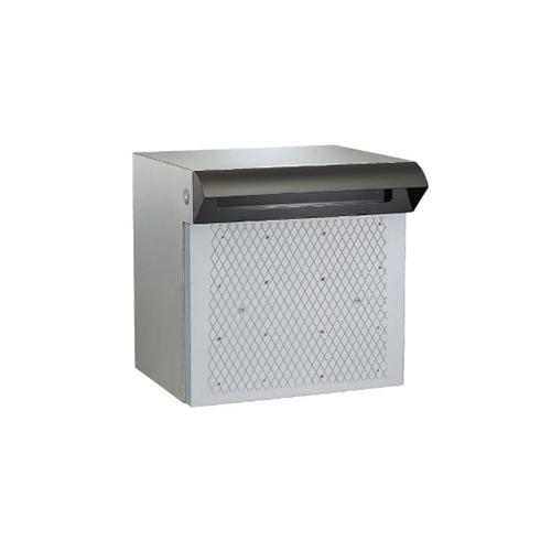 メーカー直送 HSK ポスト 戸建用 ステンレス ポスト差入口 [673-BK] ハッピー金属