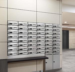 メーカー直送 D-ALL ディーオール 大型郵便物対応 集合住宅用郵便受箱 3戸用 NASTA [KS-MB6002PY-3] マンション用 ポスト エントランス ナスタ