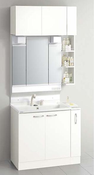 メーカー直送 送料無料 クリナップ 洗面化粧台 BGAシリーズ 間口90cm 3面鏡 洗面セットプラン