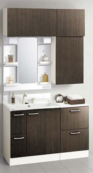 メーカー直送 送料無料 クリナップ 洗面化粧台 BGAシリーズ 間口120cm 1面鏡 洗面セットプラン