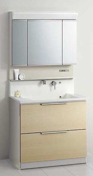 メーカー直送 送料無料 クリナップ 洗面化粧台 S(エス) [ミラー:M-903SRSC 洗面化粧台:BSRH90FSSYWNI] 一般地 間口90cm 3面鏡 セットプラン