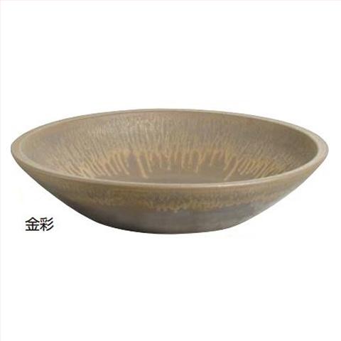 【法人様限定商品】タカショー Takasho KTO-040 水鉢 大皿60金彩 直径600×H140mm、約12kg 代引き不可